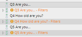 Grouped filters